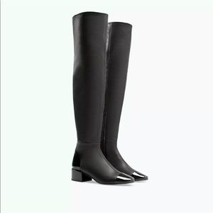 Zara Over the knee Thigh High Boots with Cap Toe